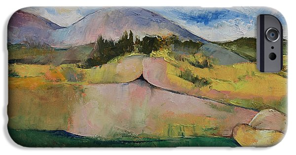 Pastel Paintings iPhone Cases - Landscape iPhone Case by Michael Creese
