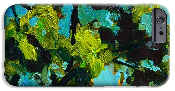 Rainy Day iPhone Cases - Landscape No. 1 iPhone Case by Patricia Awapara