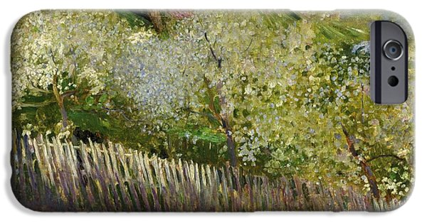 19th Century iPhone Cases - Landscape iPhone Case by Serafino Macchiati