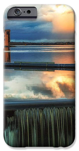 Landscape Strathclyde Park Weir  iPhone Case by John Farnan