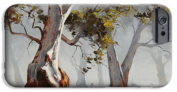 River iPhone Cases - Landscape Trees iPhone Case by Graham Gercken