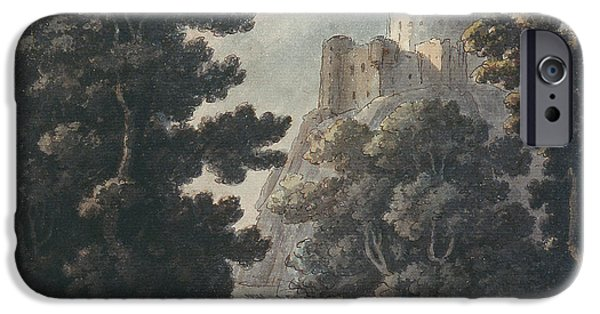 River iPhone Cases - Landscape With Castle On A Rock iPhone Case by Robert Adam
