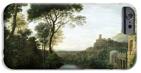 Greek iPhone Cases - Landscape With The Nymph Egeria Oil On Panel iPhone Case by Claude Lorrain