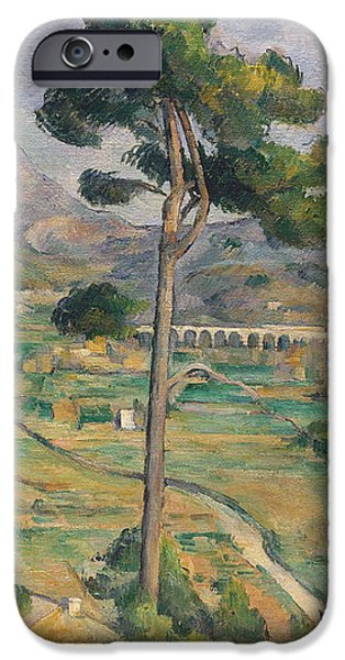 Landscape with viaduct iPhone Case by Paul Cezanne