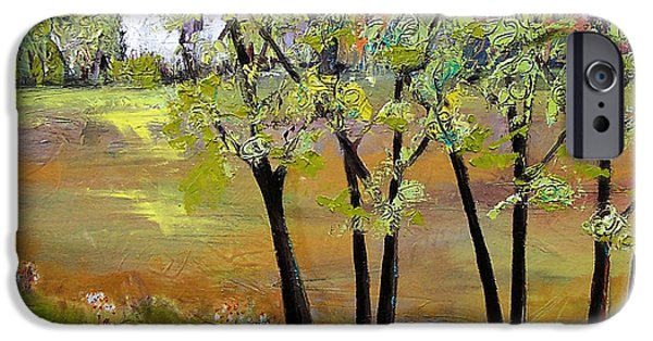Rural iPhone Cases - Landscapes Art - Hill House iPhone Case by Blenda Studio