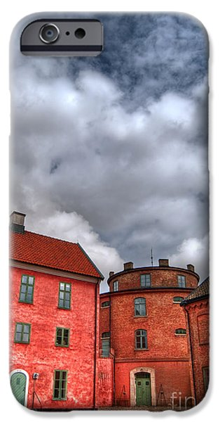 War iPhone Cases - Landskrona citadel HDR iPhone Case by Antony McAulay