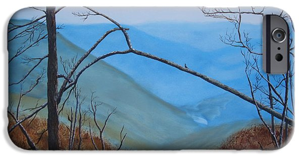 Smokey Mountains Paintings iPhone Cases - Lane Pinnacle iPhone Case by Stuart Engel