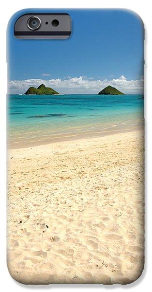 Boat iPhone Cases - Lanikai Beach 2 - Oahu Hawaii iPhone Case by Brian Harig