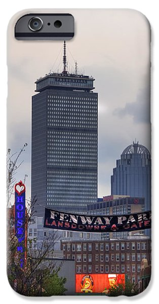 Red Sox iPhone Cases - Lansdowne Street - Fenway Park iPhone Case by Joann Vitali