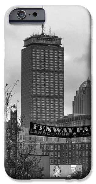 Fenway Park iPhone Cases - Lansdowne Street 2 - Fenway Park - Boston iPhone Case by Joann Vitali