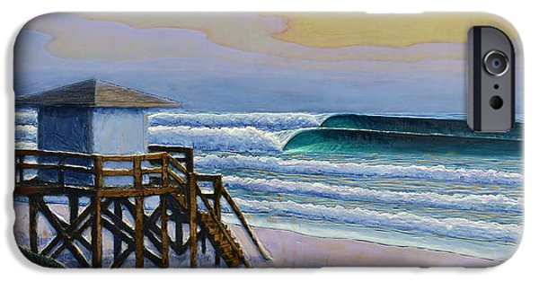 Ocean Reliefs iPhone Cases - Lantana Lifeguard Stand iPhone Case by Nathan Ledyard