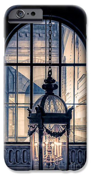 Stone Buildings iPhone Cases - Lantern and arched window iPhone Case by Edward Fielding