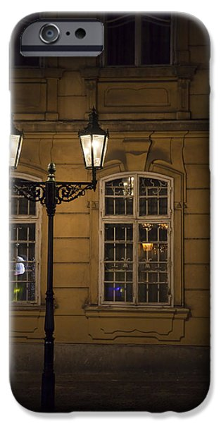 Built Structure iPhone Cases - Lantern in Prague iPhone Case by Maria Heyens