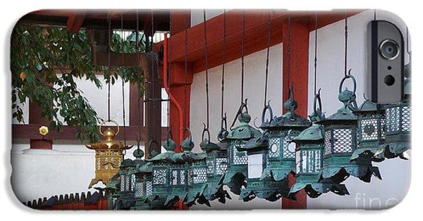 Nara iPhone Cases - Lanterns iPhone Case by David Bearden