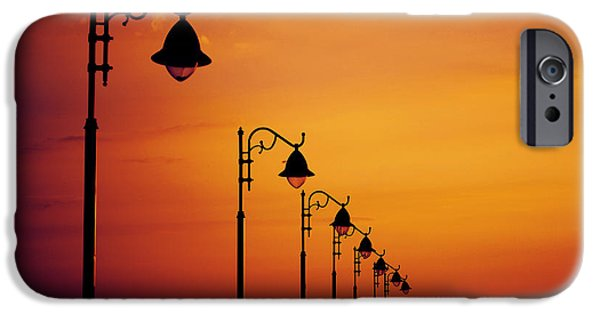 Beach Pyrography iPhone Cases - Lanterns iPhone Case by Jelena Jovanovic
