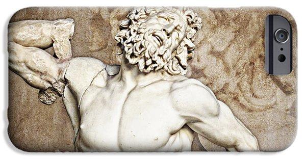 Greek Sculpture iPhone Cases - Laocoon iPhone Case by Joe Winkler