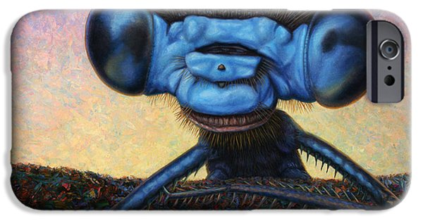 Strange iPhone Cases - Large Damselfly iPhone Case by James W Johnson