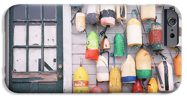 Board iPhone Cases - Large Group Of Buoys Hanging On A iPhone Case by Panoramic Images
