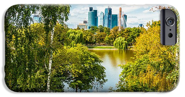 Nature Center Pond iPhone Cases - Large Novodevichy pond of Moscow - 1 iPhone Case by Alexander Senin