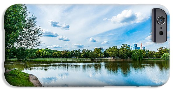 Nature Center Pond iPhone Cases - Large Novodevichy pond of Moscow - 2 iPhone Case by Alexander Senin