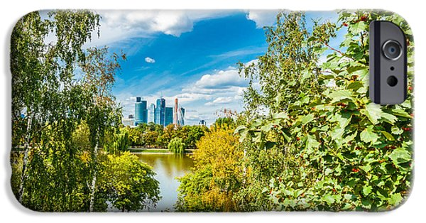 Nature Center Pond iPhone Cases - Large Novodevichy pond of Moscow - 3 iPhone Case by Alexander Senin