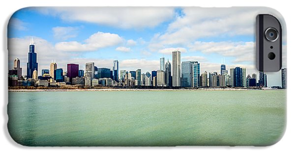 Chicago iPhone Cases - Large Picture of Downtown Chicago Skyline iPhone Case by Paul Velgos