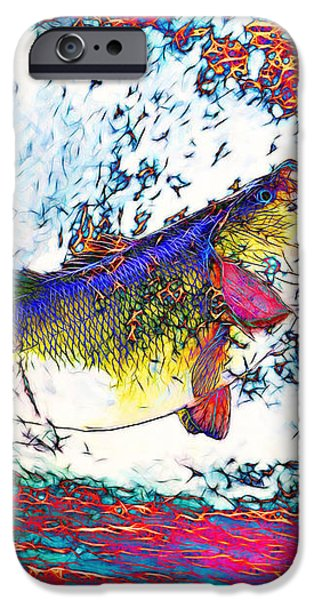 Largemouth Bass iPhone Case by Wingsdomain Art and Photography