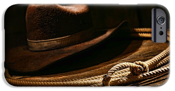 Cowboy iPhone Cases - Lariat and Hat iPhone Case by Olivier Le Queinec