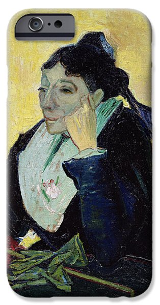 Arles iPhone Cases - Larlesienne, 1888 Oil On Canvas iPhone Case by Vincent van Gogh