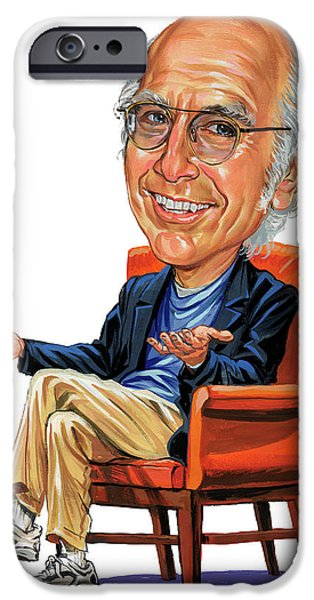 Cave iPhone Cases - Larry David iPhone Case by Art