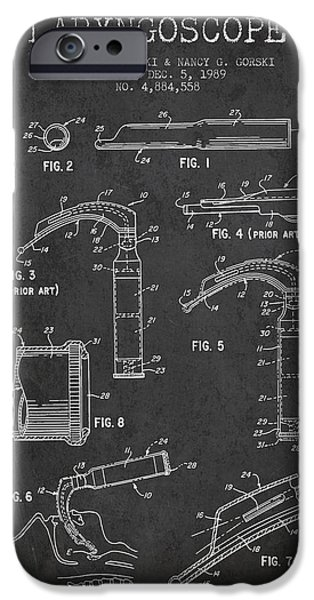 Device iPhone Cases - Laryngoscope Patent from 1989 - Dark iPhone Case by Aged Pixel
