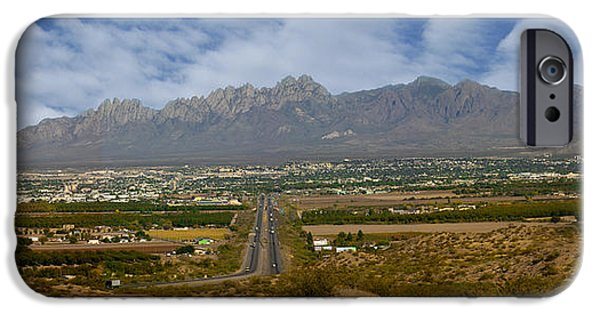 United iPhone Cases - Las Cruces New Mexico Panorama iPhone Case by Jack Pumphrey