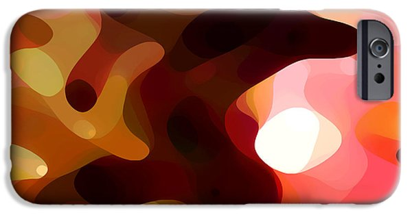 Abstract Forms iPhone Cases - Las Tunas  iPhone Case by Amy Vangsgard