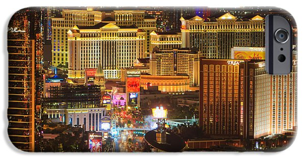Stratosphere iPhone Cases - Las Vegas By Night iPhone Case by Henk Meijer Photography
