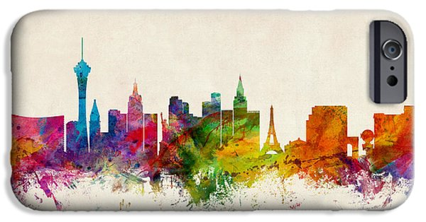 Recently Sold -  - United States iPhone Cases - Las Vegas Nevada Skyline iPhone Case by Michael Tompsett