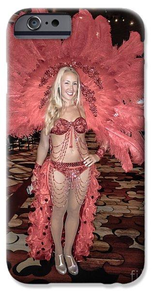 Underwear iPhone Cases - Las Vegas Showgirl iPhone Case by Edward Fielding