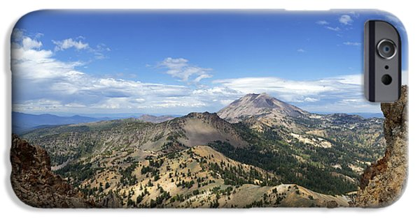 From The Dome iPhone Cases - Lassen View From Brokeoff Mountain Summit iPhone Case by Patricia Sanders