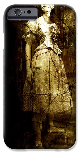 Book Cover Art iPhone Cases - Last Dance iPhone Case by Julie Palencia