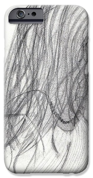 Kim Drawings iPhone Cases - Last Daughter Wed iPhone Case by Kim Peto