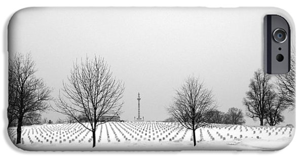 Cemetary iPhone Cases - Last full measure iPhone Case by David Bearden