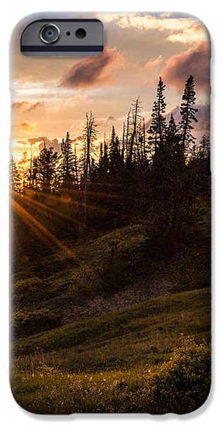 Last Light at Cedar iPhone Case by Chad Dutson