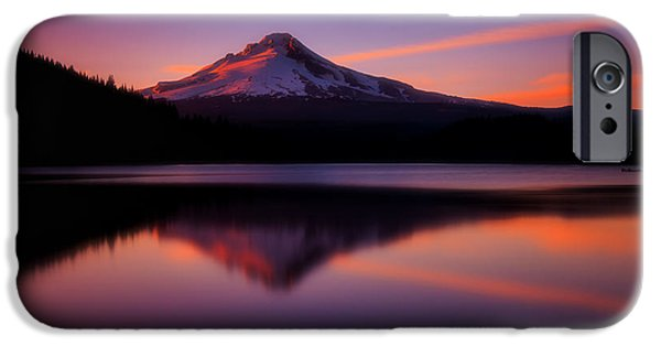 Sunset Framed Prints iPhone Cases - Last Light iPhone Case by Darren  White