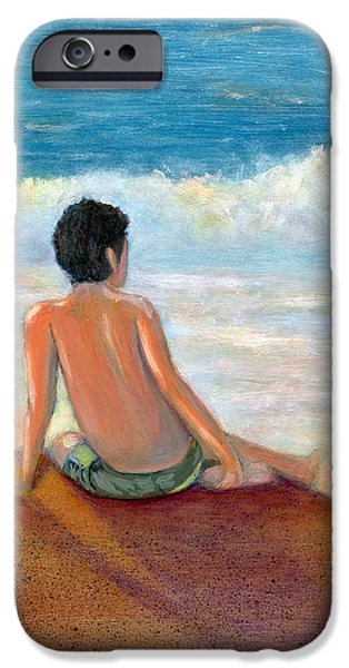 Contemplative Paintings iPhone Cases - Last Light iPhone Case by Karyn Robinson
