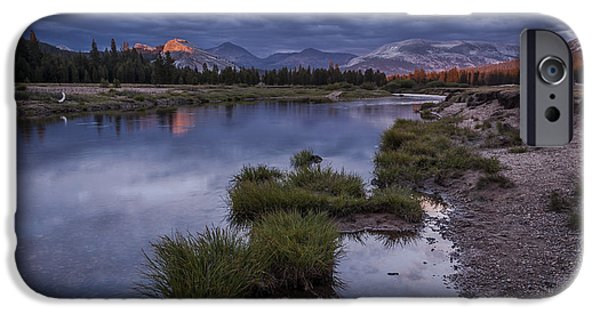 River iPhone Cases - Last Light on Lembert Dome iPhone Case by Cat Connor