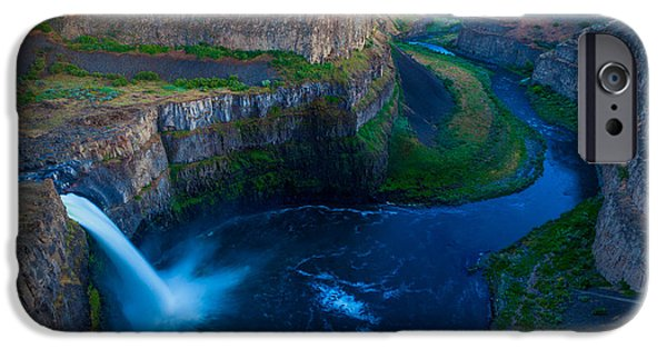 Pacific Northwest Rivers iPhone Cases - Last Light on Palouse Falls iPhone Case by Inge Johnsson