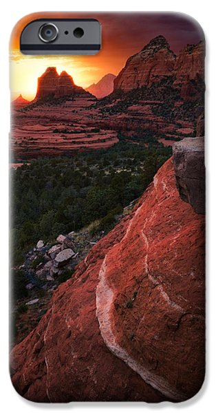 Recently Sold -  - Sedona iPhone Cases - Last Light on Sedona iPhone Case by Adam Schallau