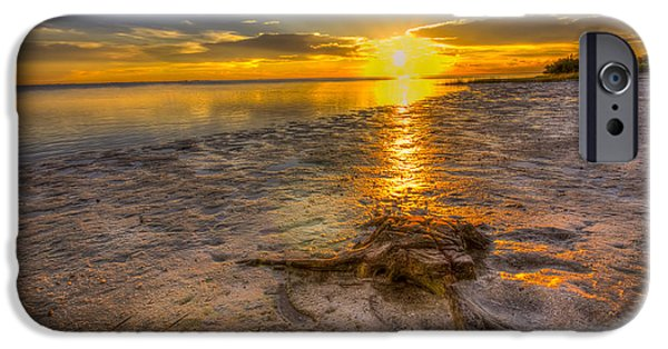 Clearwater iPhone Cases - Last Light Over the Gulf iPhone Case by Marvin Spates