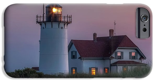 New England Lighthouse iPhone Cases - Last Light Square iPhone Case by Bill  Wakeley