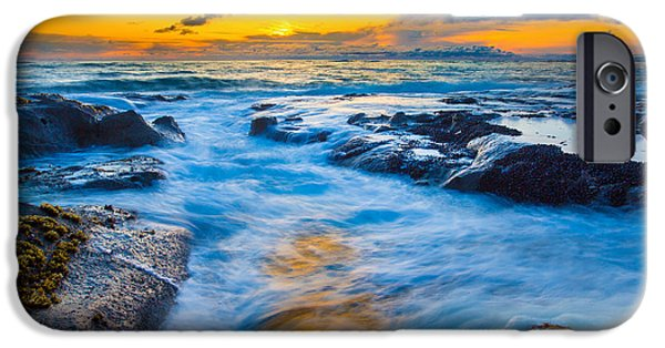 Sunset iPhone Cases - Last Rays iPhone Case by Robert Bynum
