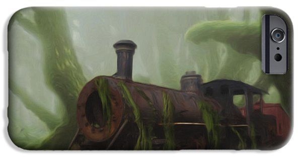 Painter Photo Digital Art iPhone Cases - Last Stop iPhone Case by Jack Zulli